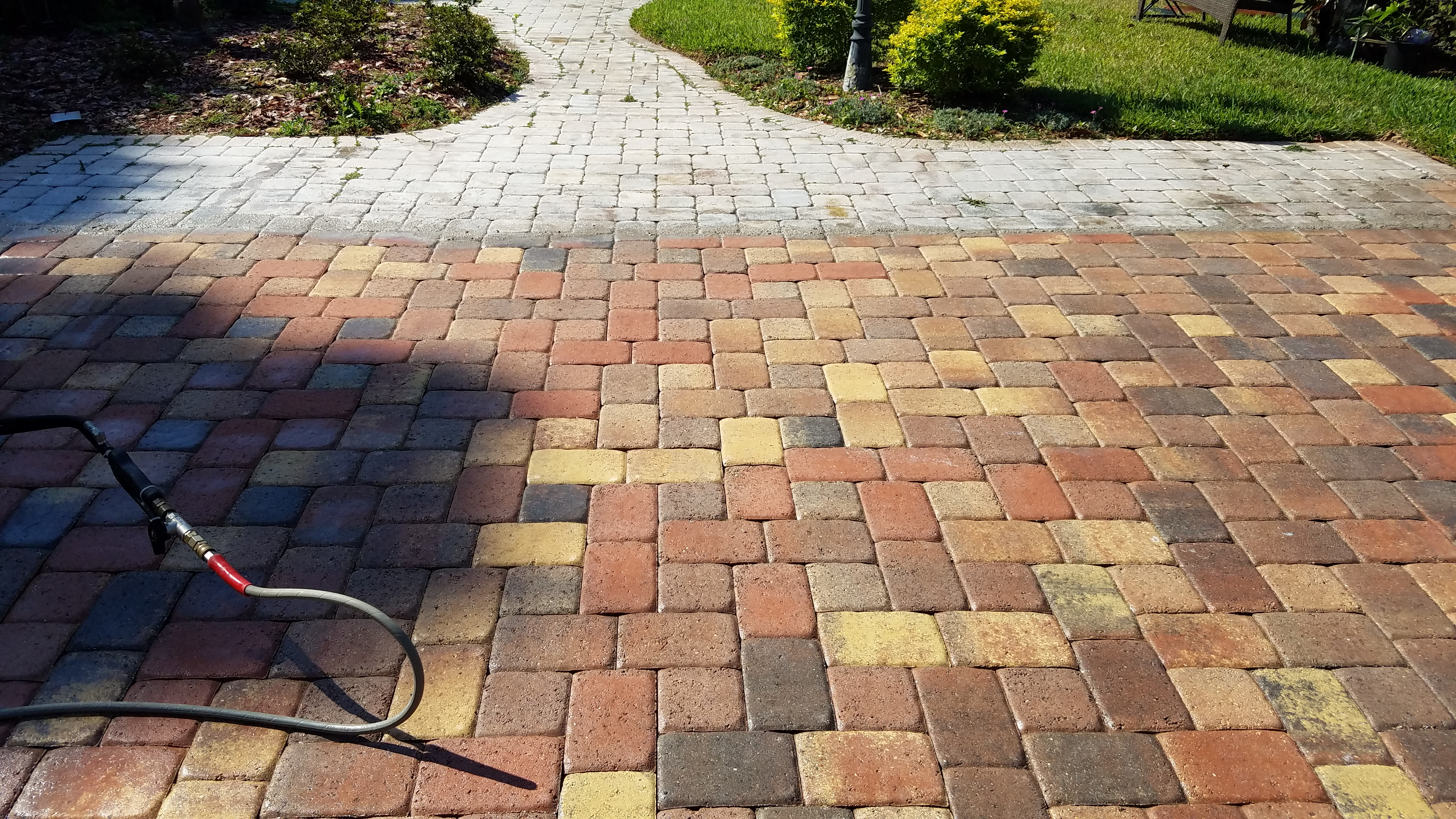 Removing Paver Sealer That Has Turned White Tampa Tile